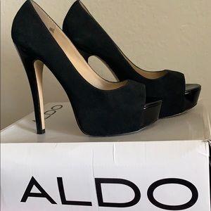 ALDO Black Suede Heels
